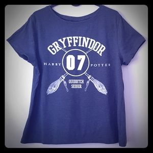 Harry Potter Gryffindor Quidditch tshirt plus US14